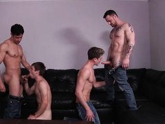 two horny twinks seduced by two lusty gays