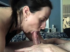 I Invited My Husbands Friend Over And Next Thing I Know His Throbbing Cock Is Cumming In My Mouth!!
