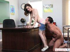 cute schoolgirl gets fucked hard by her teacher