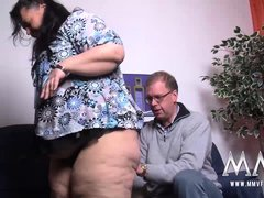Shy bbw gets fucked hard after she spread her legs and gets her pussy licked.