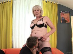 Our sweet ol' granny is a fucking slut, that loves to get her nipples and pussy licked. She likes th