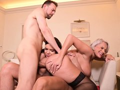 Busty Milf Gets Fucked By Her Husband And Her Stepdaughters Boyfriend