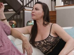 sucked and titty fucked by an experienced milf