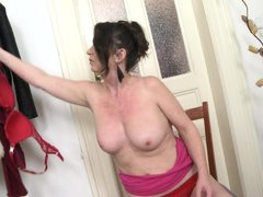 If a mature woman is what you seek to satisfy your sexual urges, then have a look at Ruzena. She's o