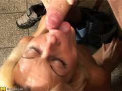 Stefana is a blonde mature bitch that loves to sucks cocks every time she can. Now she has in her mo