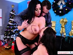 stunning threesome with his wife and her best friend