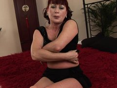 Esmeralda has been around the block and she has fucked many cock. Watch as this kinky old slut strip